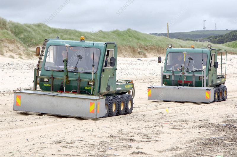 Dounreay beach radiation monitoring