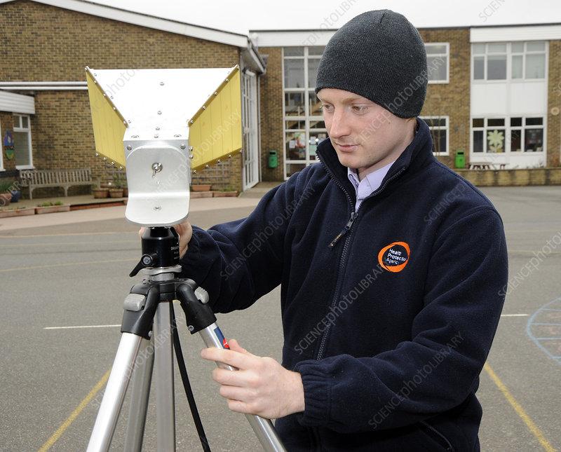 Background radiation monitoring
