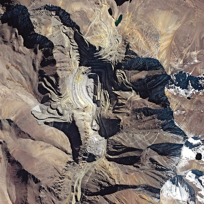 Los Pelambres mine, satellite image