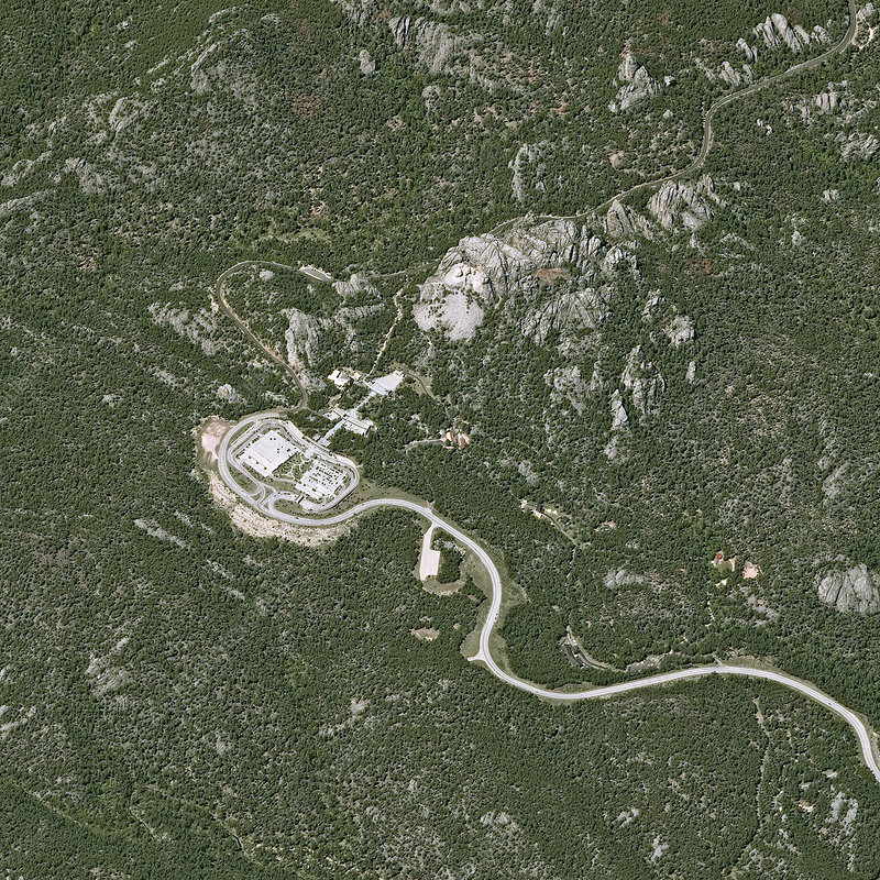 Mount Rushmore, USA, satellite image