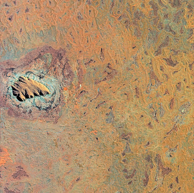 Uluru (Ayers Rock), satellite image