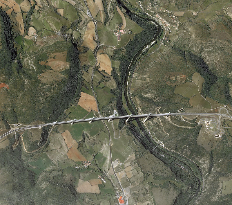 Millau Viaduct, France, satellite image