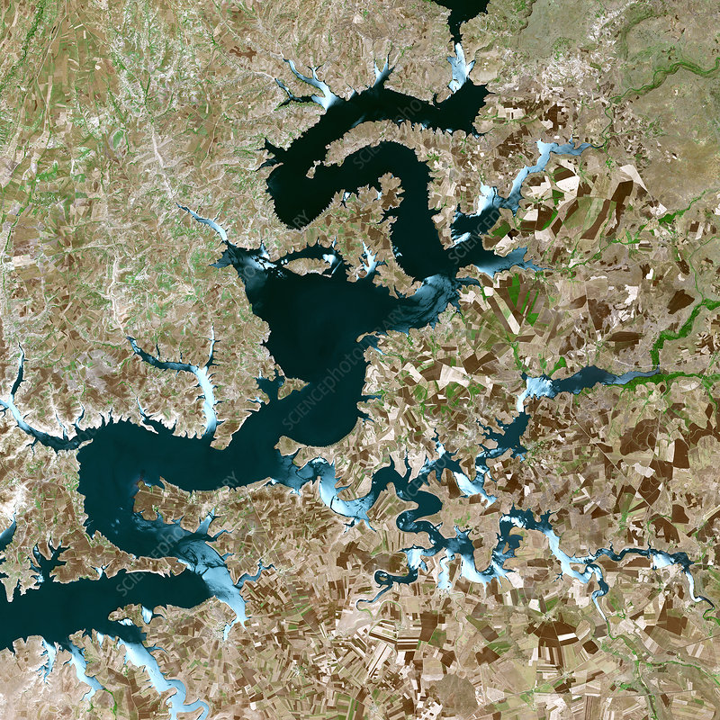 Ataturk Dam Lake, Turkey, satellite image