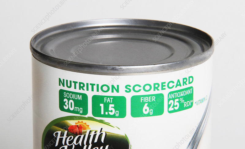 Bean Can with Nutrition Scorecard