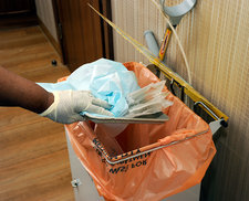 Hospital waste disposal routine