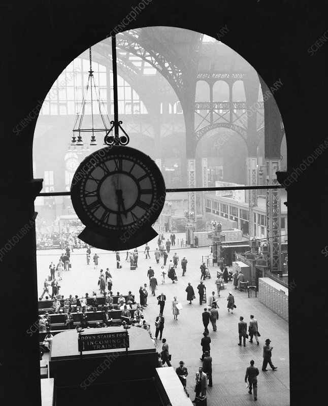 Penn Station Clock, NYC, 1957