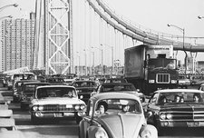 Traffic Jam, G.W. Bridge, NYC, c.1969