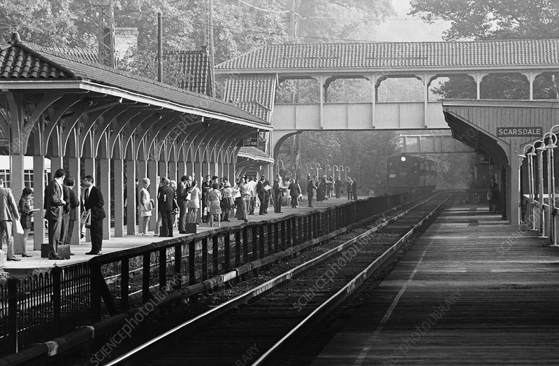 Commuters in Scarsdale, NY, 1970s