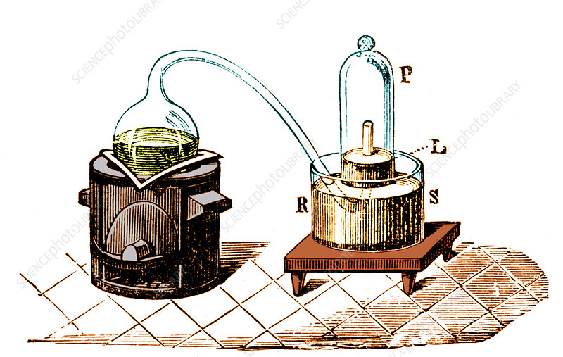 Lavoisier's experiment on air, 1776 - Stock Image C023 ...
