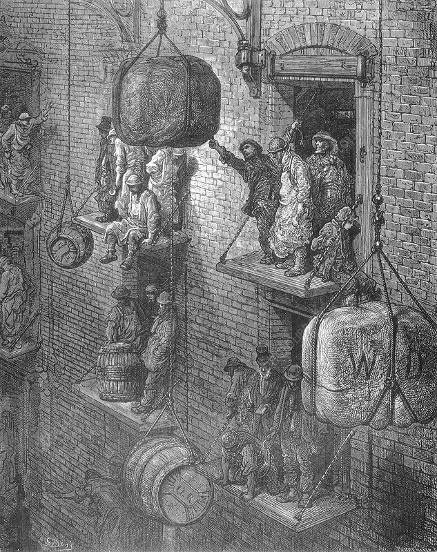 Warehousing in the City by Gustave Dore