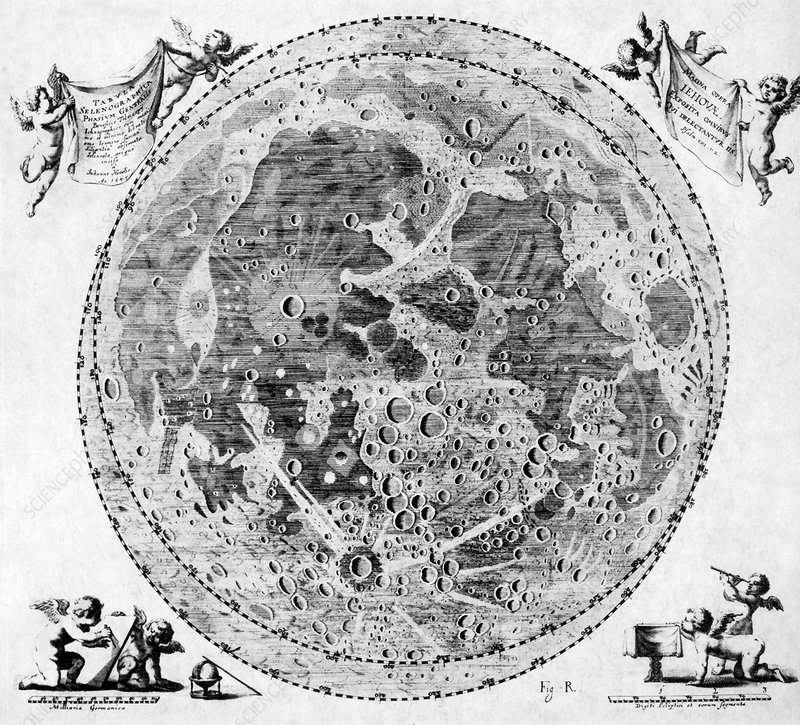 Moon Craters, 1645