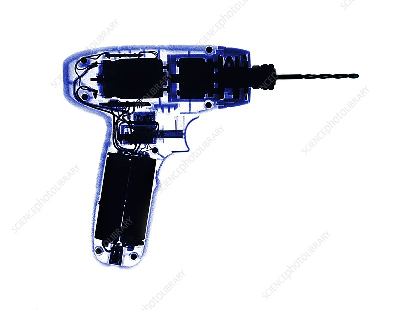Power drill, X-ray