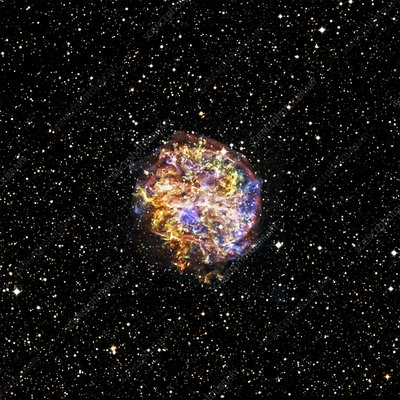 Supernova remnant, space telescope image