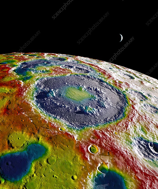 Moon gravity map