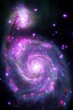 M51 Whirlpool Galaxy, optical image