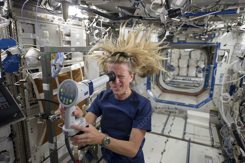 Karen Nyberg, US astronaut, on the ISS
