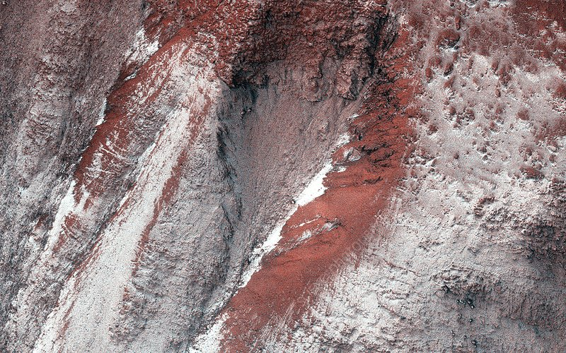 Frost on Mars, satellite image