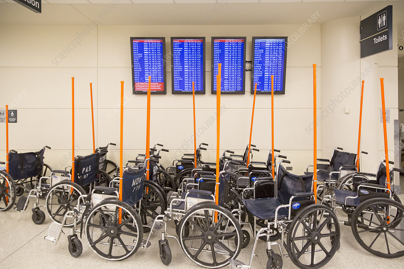 Airport wheelchairs, Chicago