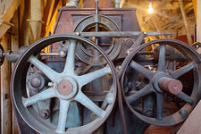 Historic flour mill machinery