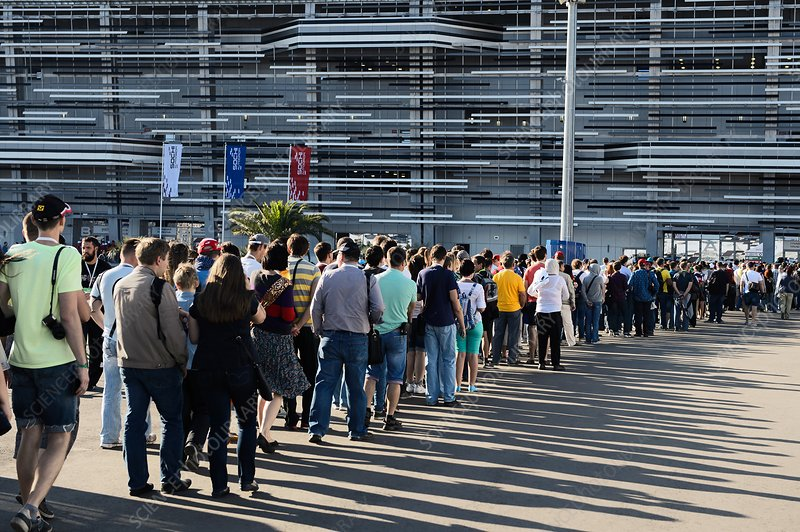 Queue at Russian Grand Prix, Sochi, 2014