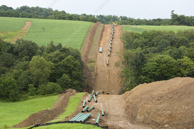 Natural gas pipeline construction