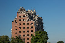 Demolition of Detroit housing towers