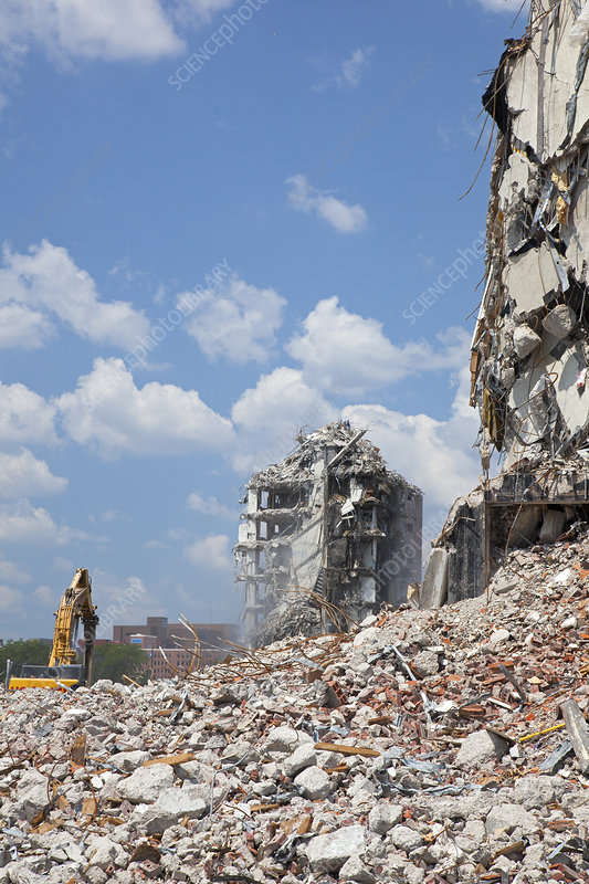 Demolition Of Science : Demolition of detroit housing towers stock image c