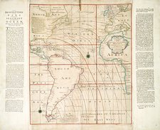 Magnetic chart of the Atlantic, 1740s