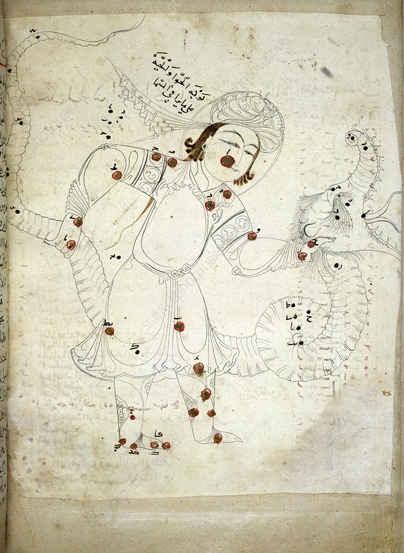 Ophiuchus constellation, 13th century