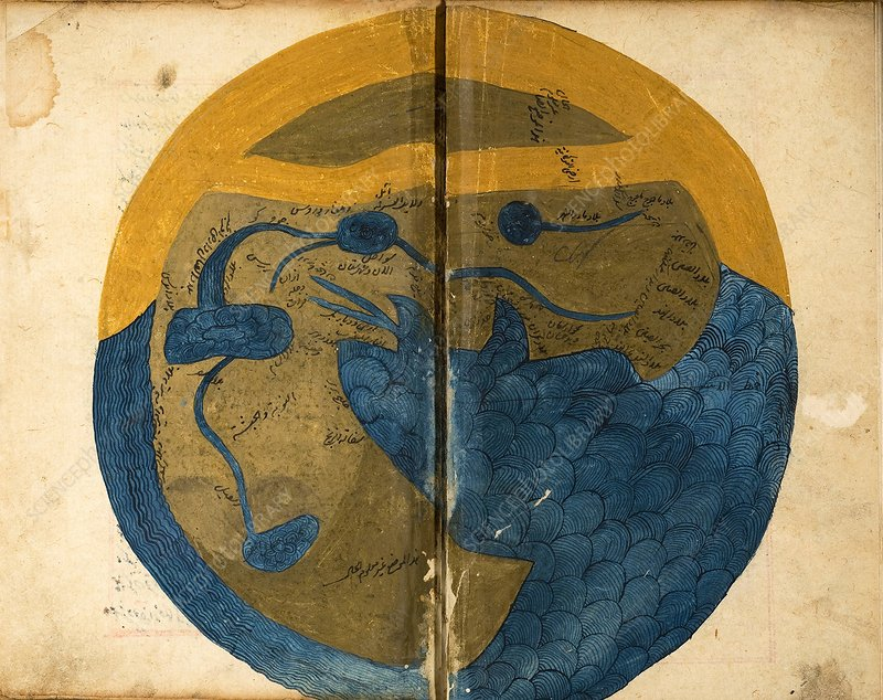 Islamic map of the world, 13th century