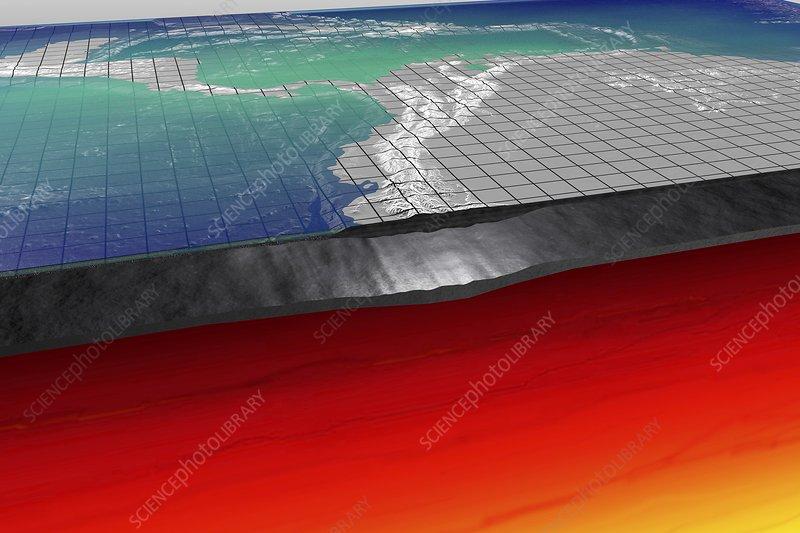 Earth's lithosphere, illustration