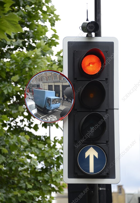 Traffic lights and mirror