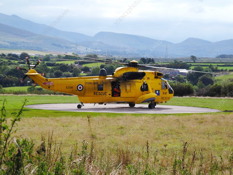 Search and rescue helicopter, UK