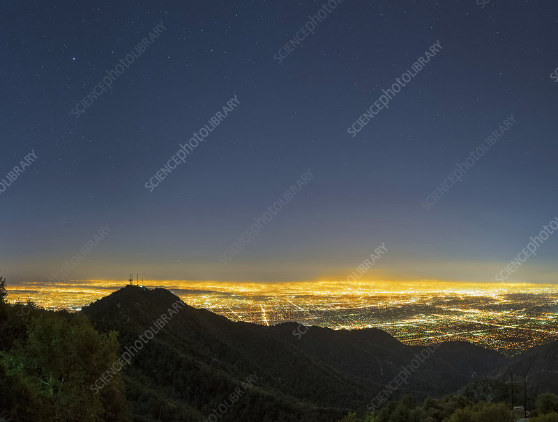Mount Wilson and Los Angeles, USA