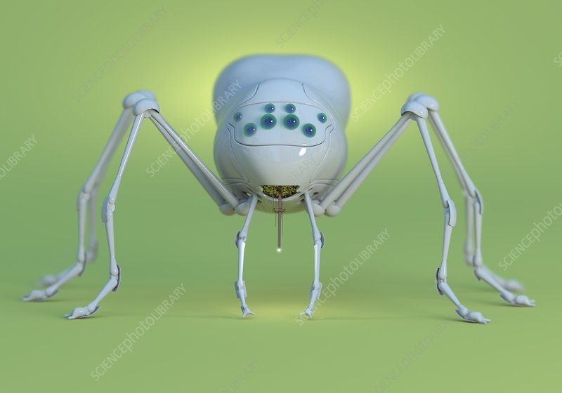 Nanobot spider, illustration