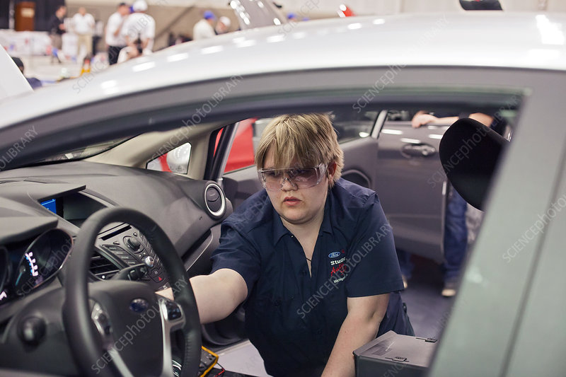 High school auto repair competition, USA