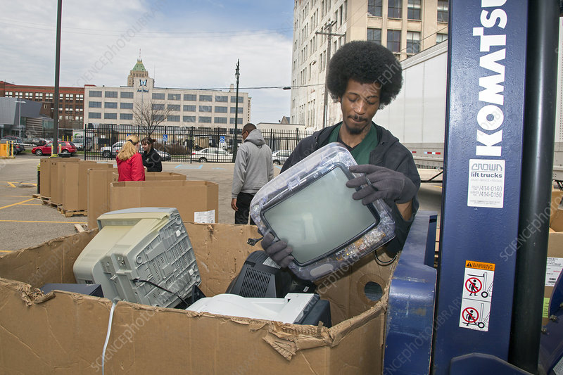 Electronic waste collection, USA