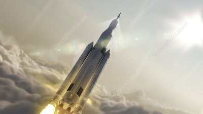 Space Launch System launch, illustration