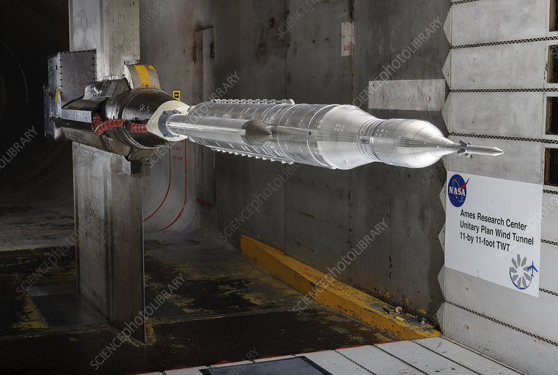 Space Launch System testing, illustration