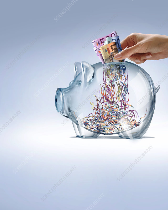 Euro savings crisis, conceptual image