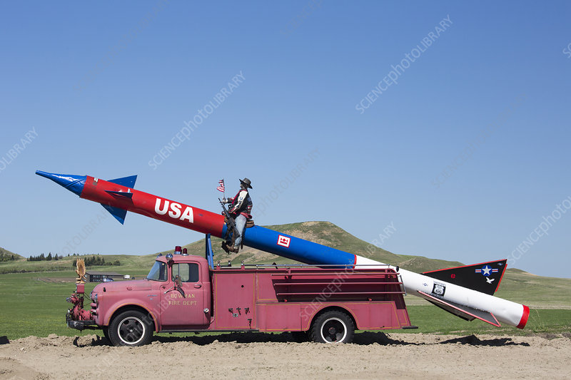 Missile on a fire truck, USA
