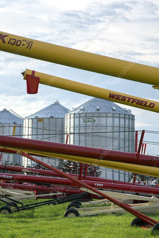 Grain augers and silos, USA