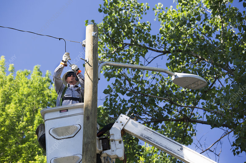 LED street light installation
