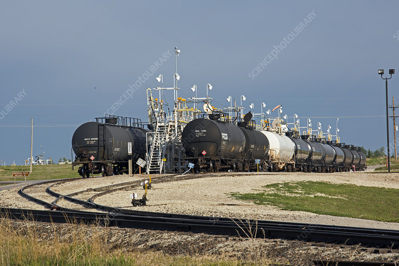Rail cars carrying LPG