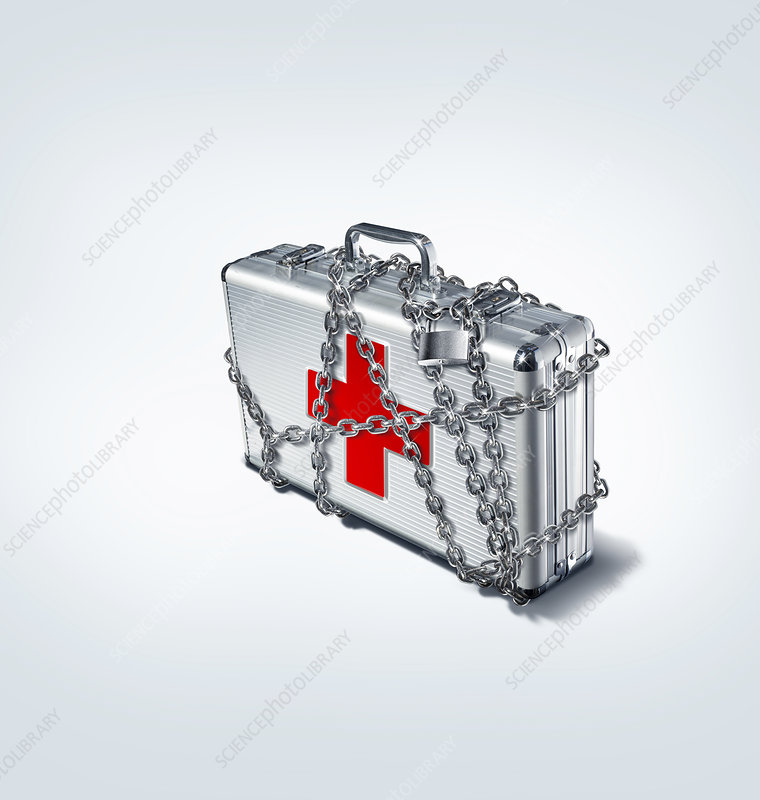 Medical security, conceptual image
