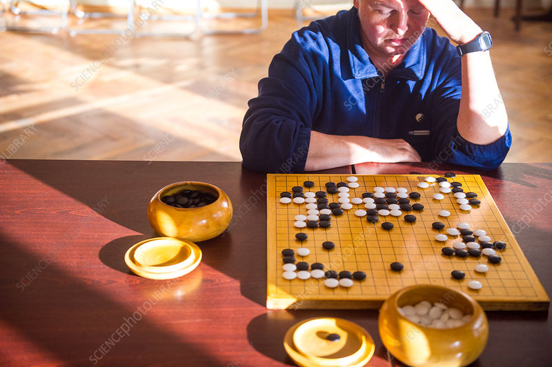 Man playing Go