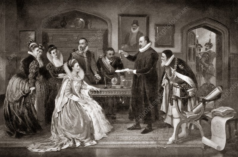 Gilbert shows electricity to Elizabeth I
