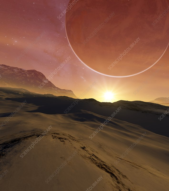Earth-like alien planet, illustration