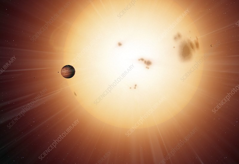 Alien planet transiting across its star