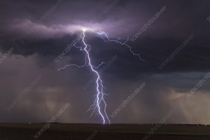 Thunderstorm at dusk